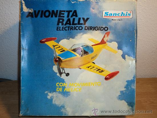 AVIONETA RALLY, ELECTRICO DIRIGIDO MARCA SANCHIS.- (Juguetes - Marcas Clásicas - Sanchís)