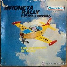 Juguetes antiguos Sanchís: AVIONETA RALLY, ELECTRICO DIRIGIDO MARCA SANCHIS.-. Lote 27234371