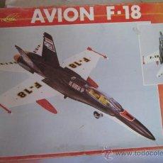 Juguetes antiguos Sanchís: AVION F-18 SANCHIS, REF 353, A FRICCION, CON SIRENA, EN CAJA. CC. Lote 32260833