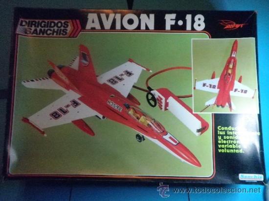 AVION F-18 CABLE MANDO DIRIGIDOS DE SANCHIS (Juguetes - Marcas Clásicas - Sanchís)