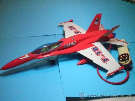 Juguetes antiguos Sanchís: AVION F-18 CABLE MANDO DIRIGIDOS DE SANCHIS - Foto 4 - 35605139