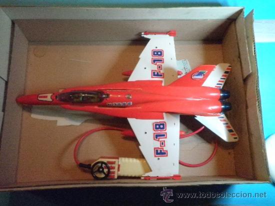 Juguetes antiguos Sanchís: AVION F-18 CABLE MANDO DIRIGIDOS DE SANCHIS - Foto 5 - 35605139