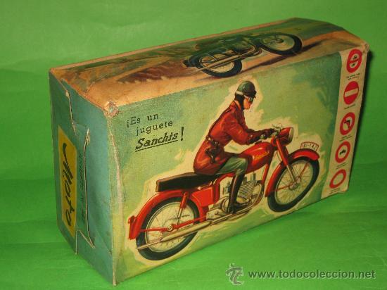 Juguetes antiguos Sanchís: MOTO DE SANCHIS-JUGUETE Nº142 EN CAJA ORIGINAL - Foto 8 - 36228751