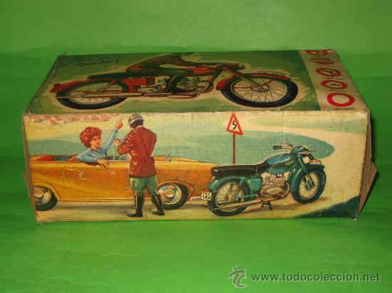 Juguetes antiguos Sanchís: MOTO DE SANCHIS-JUGUETE Nº142 EN CAJA ORIGINAL - Foto 12 - 36228751