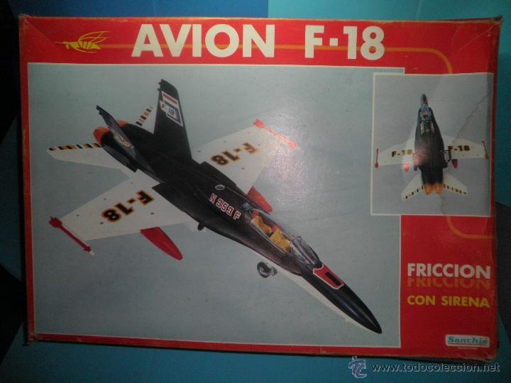 AVION DE FRICCION F-18 DE SANCHIS (Juguetes - Marcas Clásicas - Sanchís)