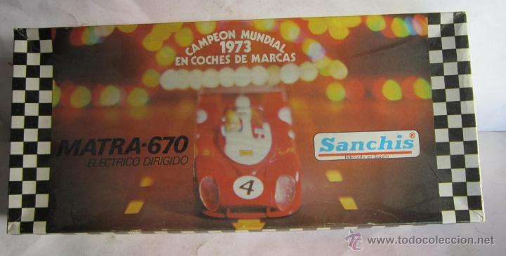 COCHE SANCHIS, MATRA 670, ELECTRICO DIRIGIDO, FUNCIONA, EN CAJA. ( CO78 ) CC (Juguetes - Marcas Clásicas - Sanchís)