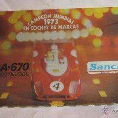 Juguetes antiguos Sanchís: COCHE SANCHIS, MATRA 670, ELECTRICO DIRIGIDO, FUNCIONA, EN CAJA. ( CO78 ) CC. Lote 41794754