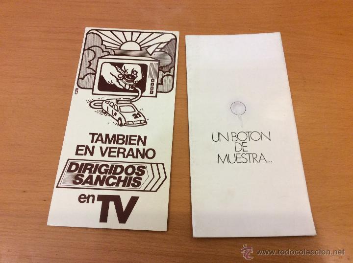 SANCHIS 2 PUBLICIDADES DIRIGIDOS SANCHIS TVE (Juguetes - Marcas Clásicas - Sanchís)