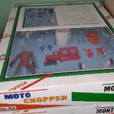 Juguetes antiguos Sanchís: MOTO CHOPPER DE SANCHÍS MONTABLE, PIEZA RARA.. Lote 47808116