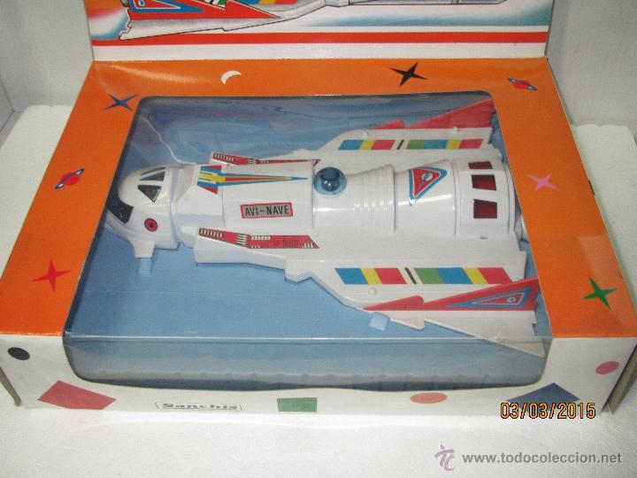 Juguetes antiguos Sanchís: Antigua Nave Espacial Platillo Volante AVI NAVE de SANCHIS a Estrenar - Foto 9 - 48108622