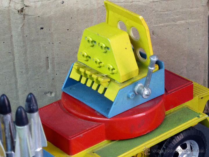 Juguetes antiguos Sanchís: Camión Safari Sanchís Lanza Misiles con proyectiles y caja años 70 - Foto 2 - 53000864
