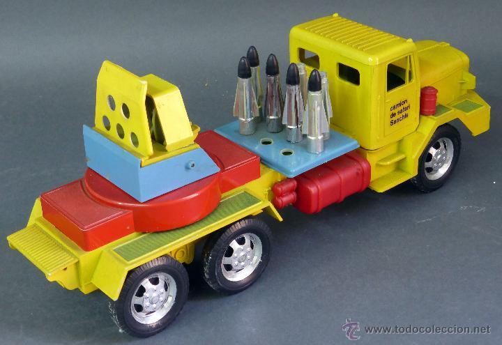 Juguetes antiguos Sanchís: Camión Safari Sanchís Lanza Misiles con proyectiles y caja años 70 - Foto 4 - 53000864