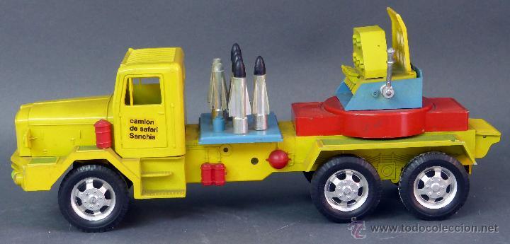 Juguetes antiguos Sanchís: Camión Safari Sanchís Lanza Misiles con proyectiles y caja años 70 - Foto 6 - 53000864