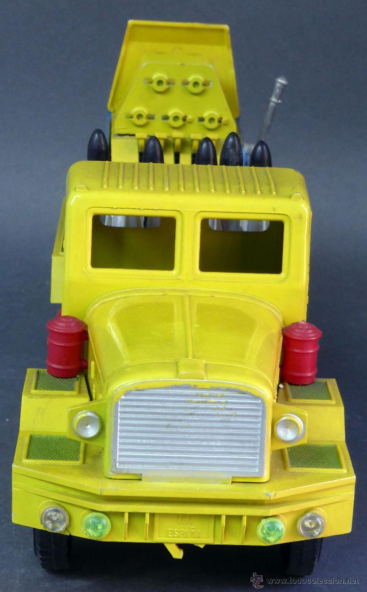 Juguetes antiguos Sanchís: Camión Safari Sanchís Lanza Misiles con proyectiles y caja años 70 - Foto 7 - 53000864