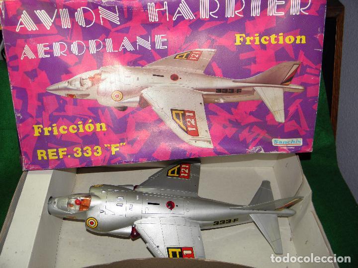 AVION HARRIER AEROPLANE DE SANCHIS - REF. 333F - FRICCION (Juguetes - Marcas Clásicas - Sanchís)