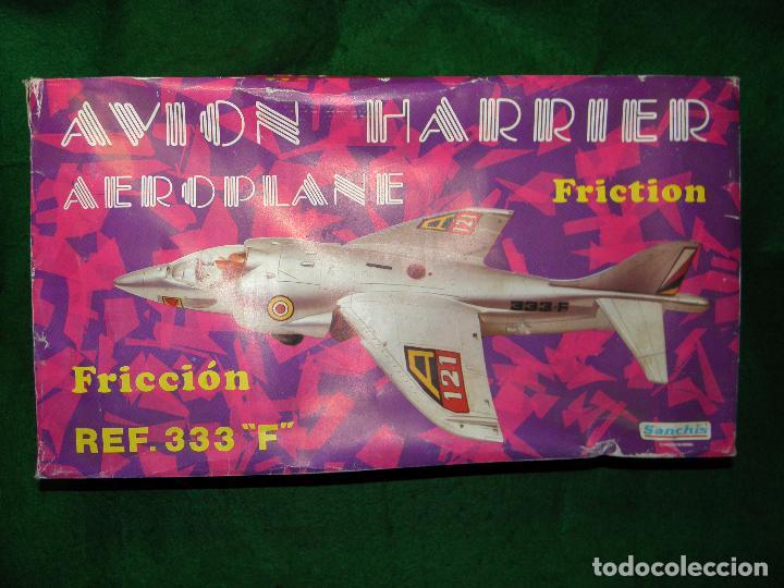 Juguetes antiguos Sanchís: AVION HARRIER AEROPLANE DE SANCHIS - REF. 333F - FRICCION - Foto 4 - 68530367