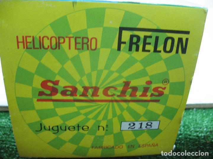 Juguetes antiguos Sanchís: Sanchis Ref: 218 - Helicóptero Frelon Taxi Aereo de plástico con mecanismo a fricción - Foto 12 - 71906771
