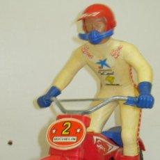 Juguetes antiguos Sanchís: MOTO TRIAL MOTO-CROSS DE SANCHIS TEAM SPORT, A FRICCIÓN, BULTACO??,MICHELIN,NOVA,VALEO. Lote 74223207