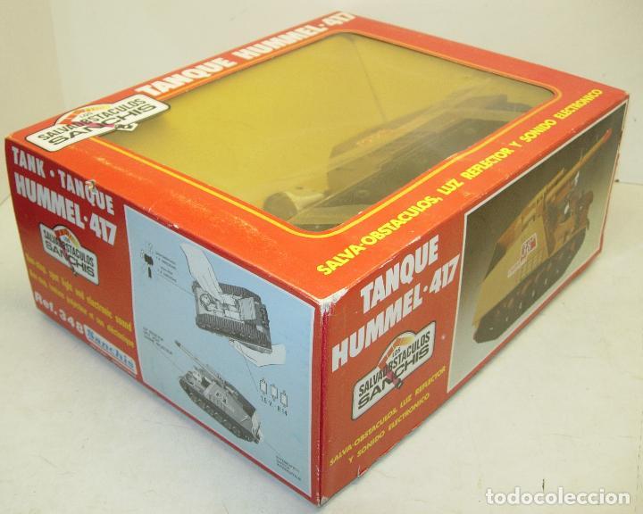 Juguetes antiguos Sanchís: TANQUE HUMMEL-417 salvaobstaculos de SANCHIS ,vehículo militar, nuevo con caja - Foto 2 - 75803114