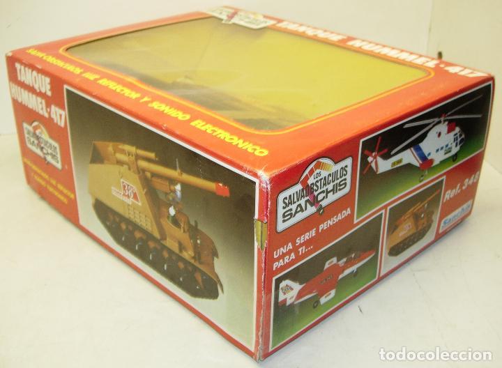 Juguetes antiguos Sanchís: TANQUE HUMMEL-417 salvaobstaculos de SANCHIS ,vehículo militar, nuevo con caja - Foto 3 - 75803114