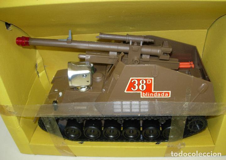 Juguetes antiguos Sanchís: TANQUE HUMMEL-417 salvaobstaculos de SANCHIS ,vehículo militar, nuevo con caja - Foto 6 - 75803114