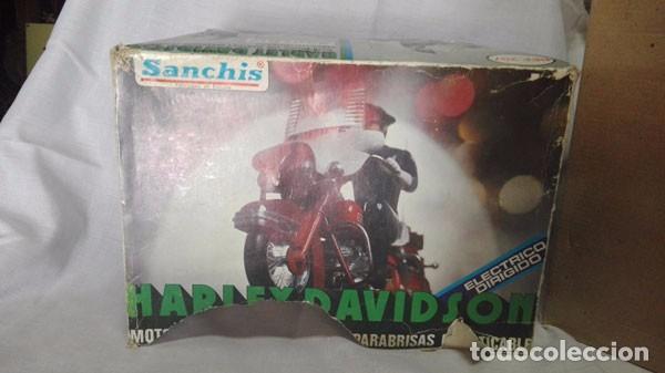 Juguetes antiguos Sanchís: MOTO POLICÍA HARLEY DAVIDSON CON MUÑECO Y PARABRISAS, ELÉCTRICO DIRIGIDO, SANCHIS ,CON CAJA ORIGINAL - Foto 7 - 85066912