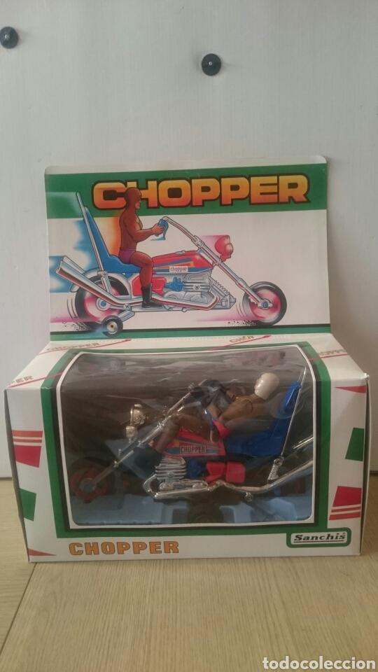 Juguetes antiguos Sanchís: MOTO CHOPPER FABRICA JUGUETES SANCHIS (IBI) - Foto 3 - 89039896