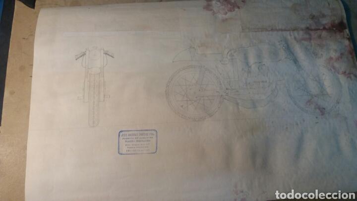 Juguetes antiguos Sanchís: Pieza unica, moto años 60 . Prototipo Sanchis Ibi Alicante. - Foto 8 - 95877038
