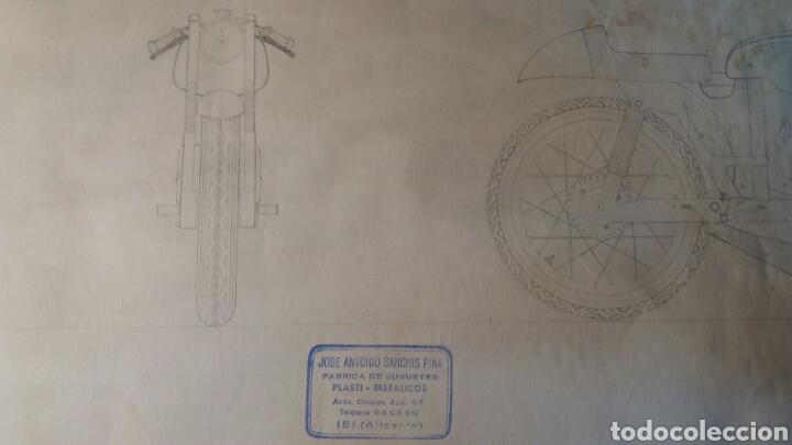 Juguetes antiguos Sanchís: Pieza unica, moto años 60 . Prototipo Sanchis Ibi Alicante. - Foto 9 - 95877038