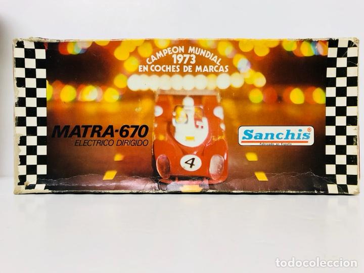 Juguetes antiguos Sanchís: MATRA 670 DE SANCHIS EN CAJA eléctrico dirigido. - Foto 4 - 114699520