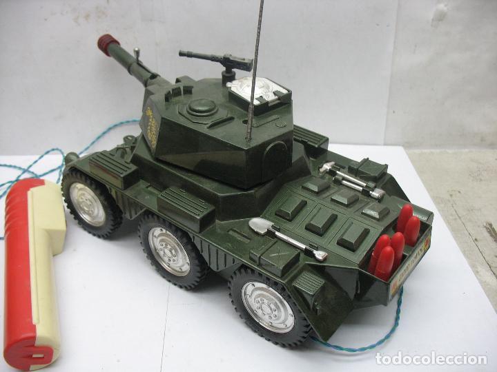 Juguetes antiguos Sanchís: Sanchis - Tanque Carro Armado de plástico con mecanismo a pilas y con mando - Foto 3 - 120294947
