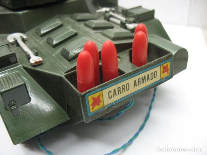 Juguetes antiguos Sanchís: Sanchis - Tanque Carro Armado de plástico con mecanismo a pilas y con mando - Foto 6 - 120294947