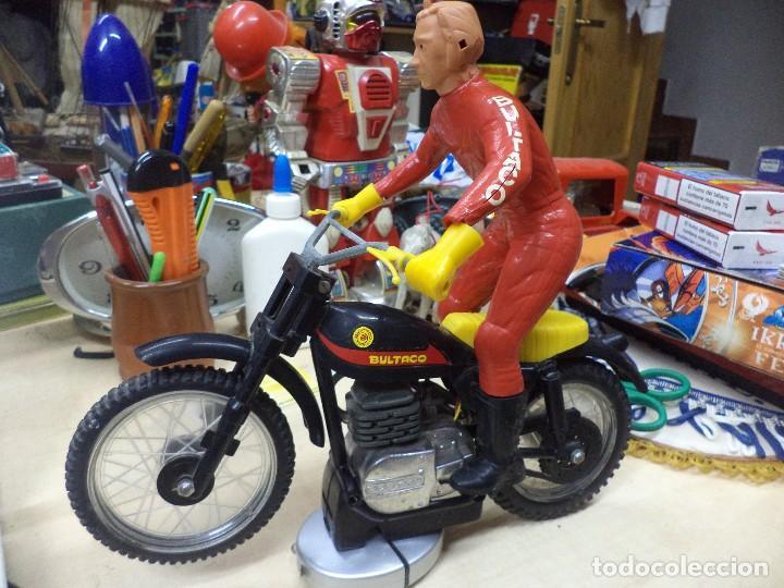 MOTO BULTACO MOTOCROSS DE SANCHÍS.PARA RESTAURAR.AÑOS 70. (Juguetes - Marcas Clásicas - Sanchís)