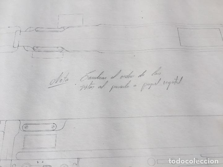 Juguetes antiguos Sanchís: SANCHIS PLANOS ORIGINALES SUBFUSIL 309 METRALLETA - Foto 3 - 132969246