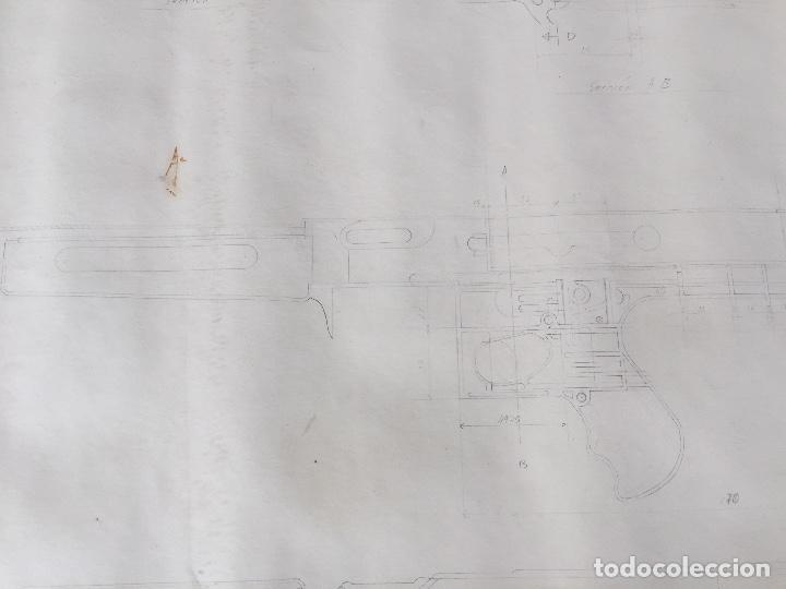 Juguetes antiguos Sanchís: SANCHIS PLANOS ORIGINALES SUBFUSIL 309 METRALLETA - Foto 8 - 132969246