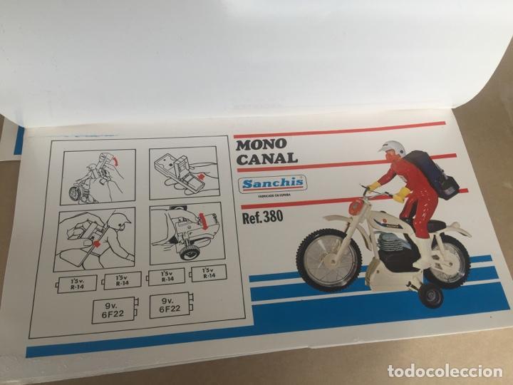 Juguetes antiguos Sanchís: SANCHIS MOTO BULTACO MONOCANAL PRUEBAS IMPRENTA CAJA - Foto 2 - 138989354
