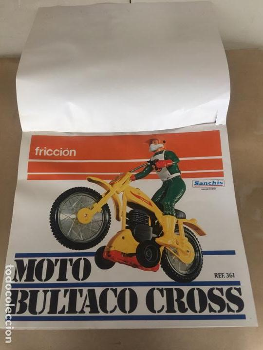 SANCHIS MOTO BULTACO CROSS PRUEBAS IMPRENTA CAJA (Juguetes - Marcas Clásicas - Sanchís)