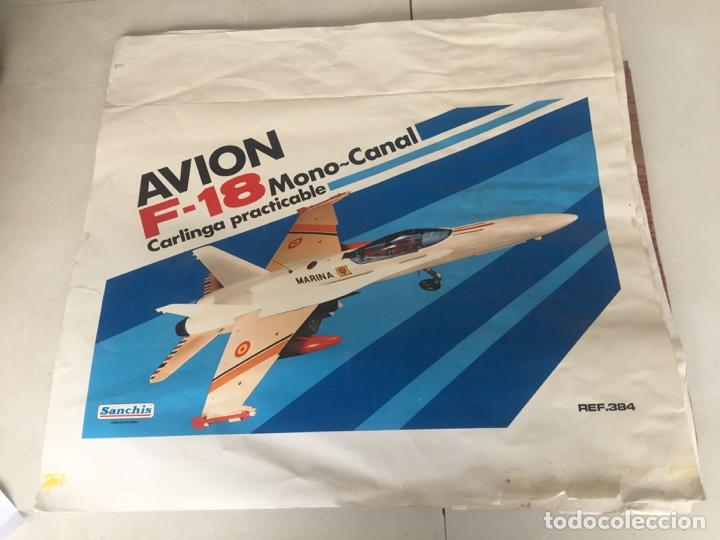 SANCHIS AVION F-18 PRUEBAS IMPRENTA CAJA (Juguetes - Marcas Clásicas - Sanchís)