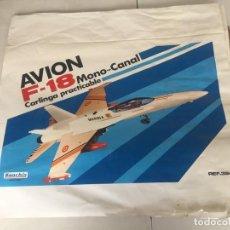 Juguetes antiguos Sanchís: SANCHIS AVION F-18 PRUEBAS IMPRENTA CAJA. Lote 138989878