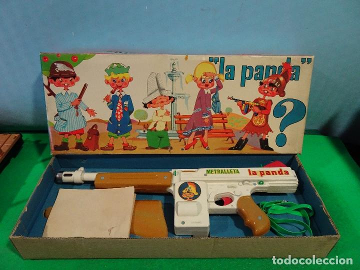 JUGUETES SANCHIS-METRALLETA LA PANDA AÑOS 70- NUEVO A ESTRENAR,DE ALMACEN (Juguetes - Marcas Clásicas - Sanchís)