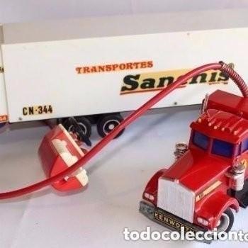 CAMIÓN TRAILER DE TRANSPORTE DE SANCHIS. (Juguetes - Marcas Clásicas - Sanchís)