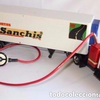 Juguetes antiguos Sanchís: CAMIÓN TRAILER DE TRANSPORTE DE SANCHIS. - Foto 4 - 147965654