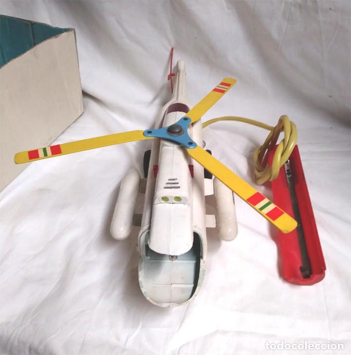 Juguetes antiguos Sanchís: Helicoptero Taxi Aereo de Sanchis años 60. Med. 43 cm - Foto 2 - 162527758