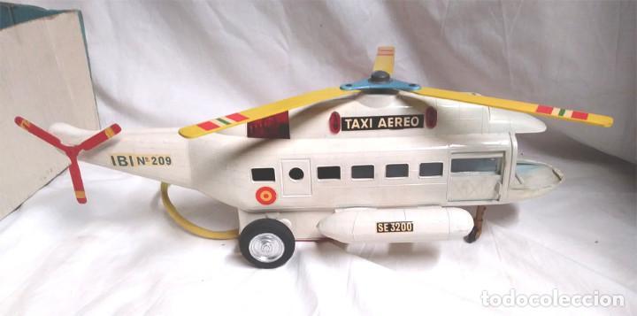 Juguetes antiguos Sanchís: Helicoptero Taxi Aereo de Sanchis años 60. Med. 43 cm - Foto 3 - 162527758