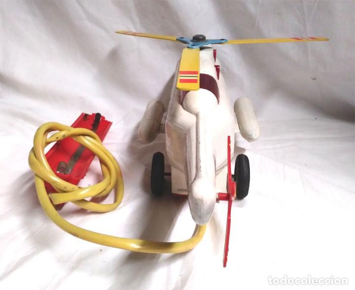 Juguetes antiguos Sanchís: Helicoptero Taxi Aereo de Sanchis años 60. Med. 43 cm - Foto 4 - 162527758