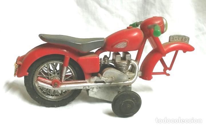 Juguetes antiguos Sanchís: Moto a Friccion Ref. IBI 140 de SANCHIS, para completar o recambio años 60 - Foto 4 - 162527798