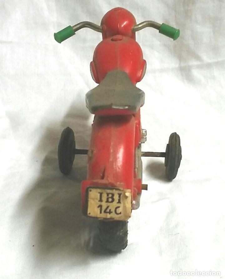 Juguetes antiguos Sanchís: Moto a Friccion Ref. IBI 140 de SANCHIS, para completar o recambio años 60 - Foto 5 - 162527798