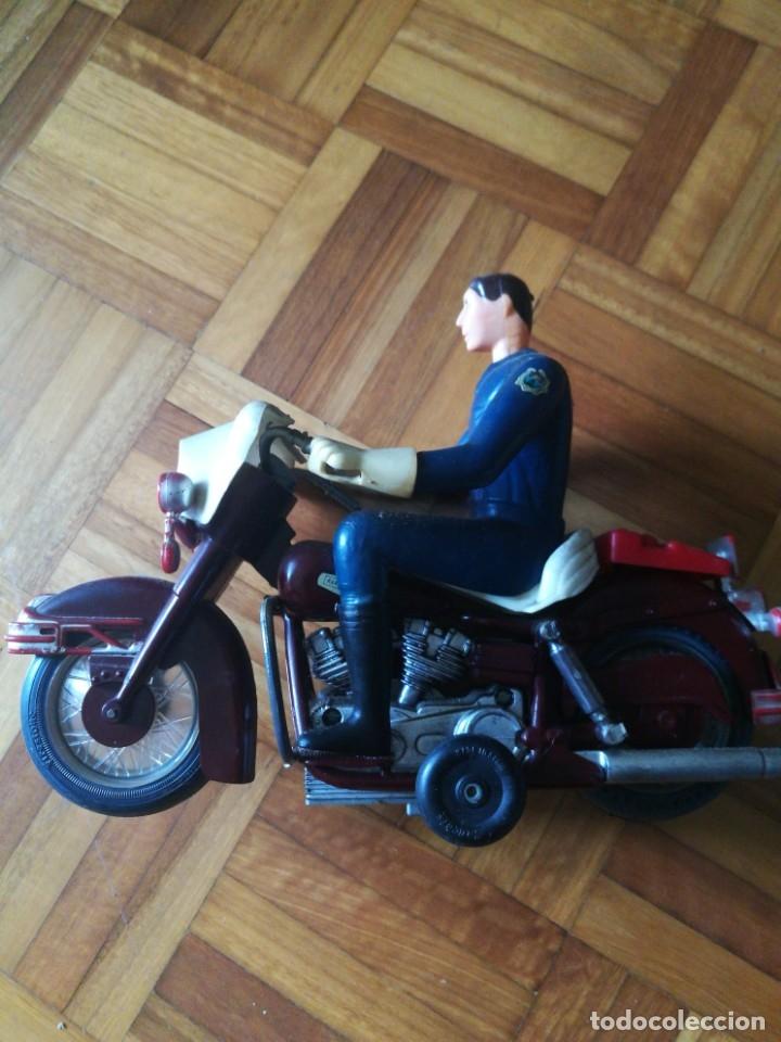 Juguetes antiguos Sanchís: Patrullero americano en moto de Sanchis. - Foto 2 - 172643240