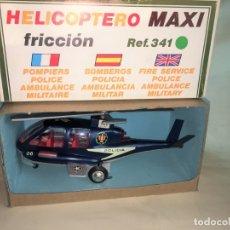 Juguetes antiguos Sanchís: HELICOPTERO MAXI DE POLICIA DE SANCHIS. Lote 175700347