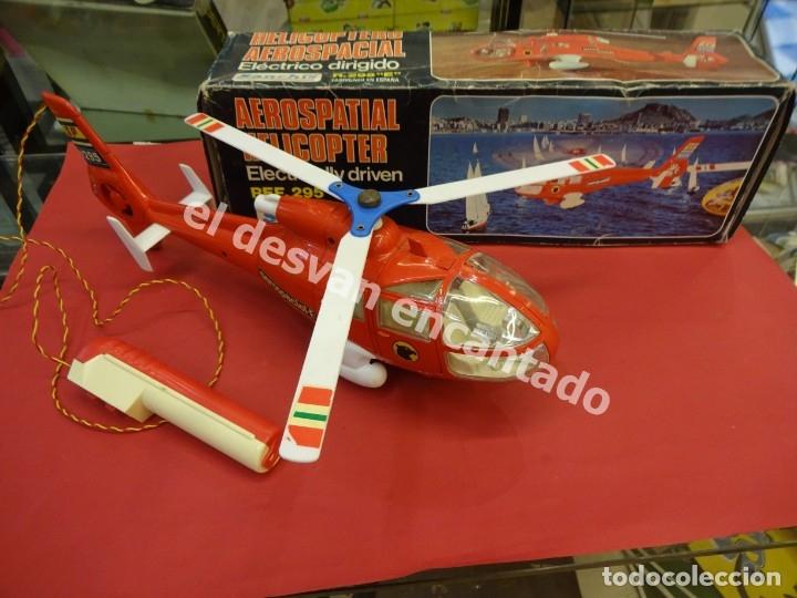 HELICOPTERO AEROSPACIAL SANCHIS. REF. 295 E. BUEN ESTADO NO COMPROBADO FUNCIONAMIENTO (Juguetes - Marcas Clásicas - Sanchís)